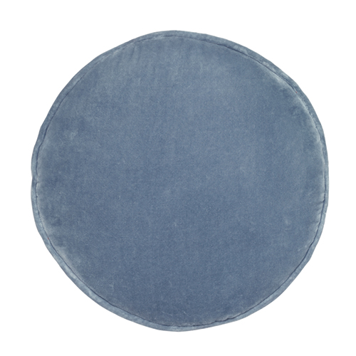 Castle And Things Dusty Blue Velvet Penny Round Cover