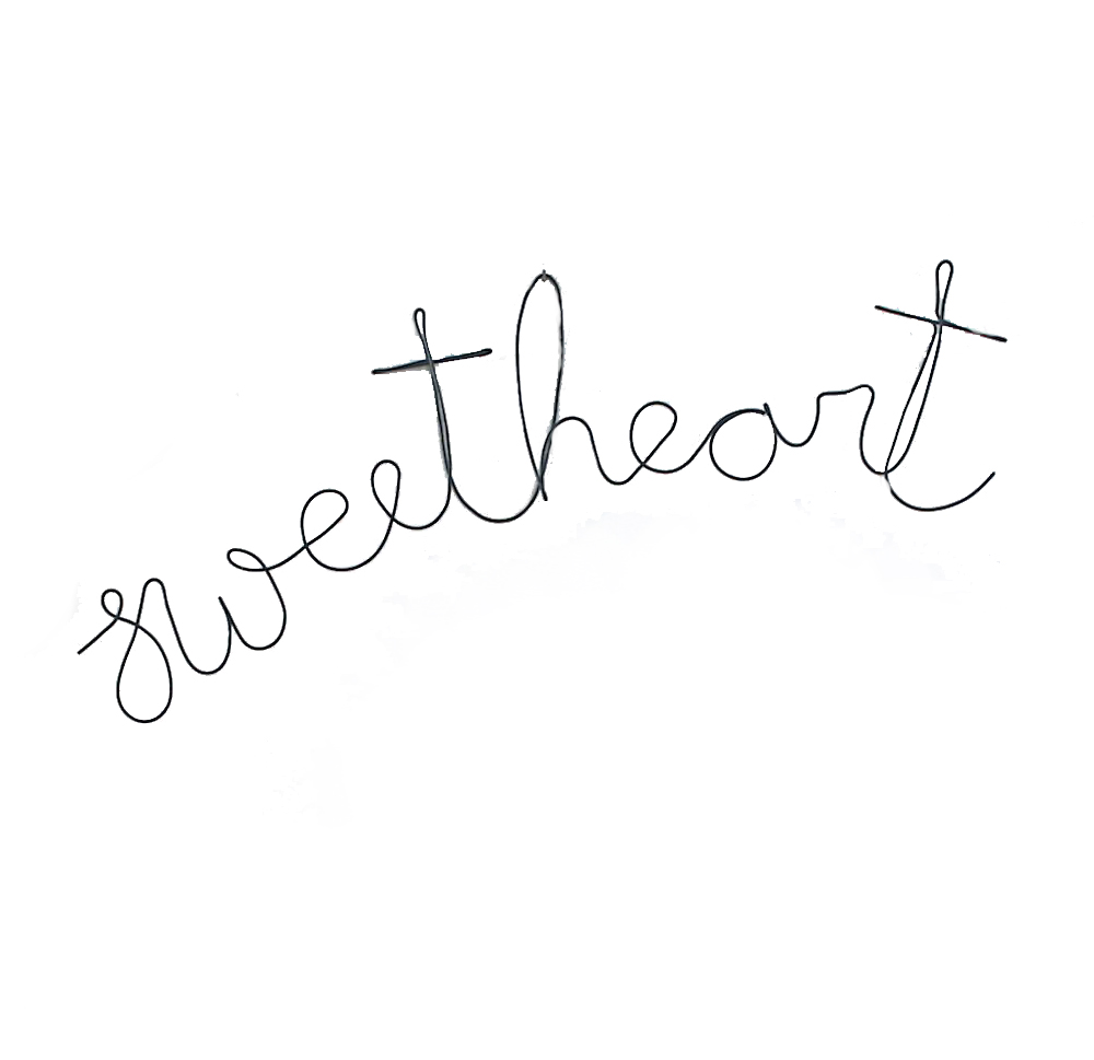 Pretty Snippets 'Sweetheart' Wire Word