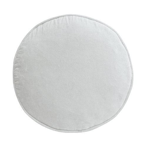 Castle And Things Ice Grey Velvet Penny Round Cover