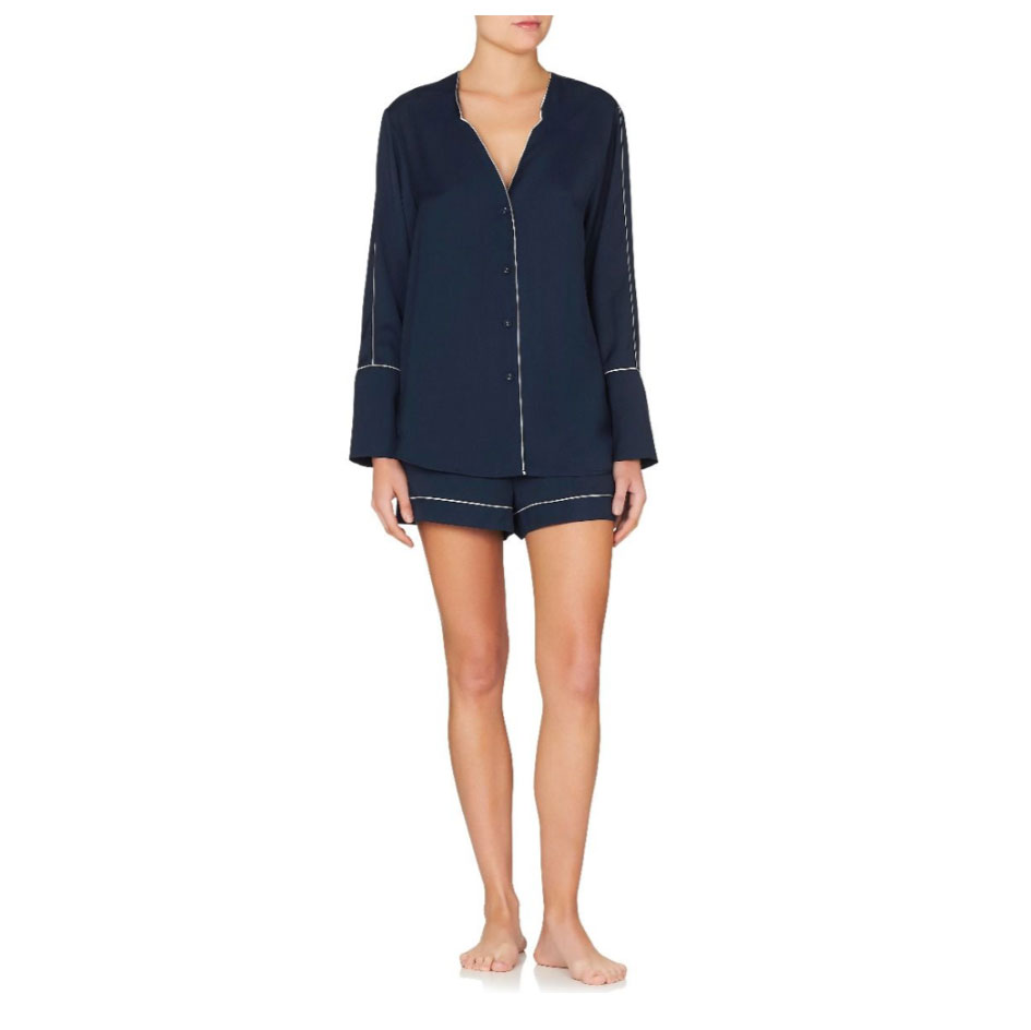 Jasmine & Will Portofino Short Pyjama Set – Navy  $139.00