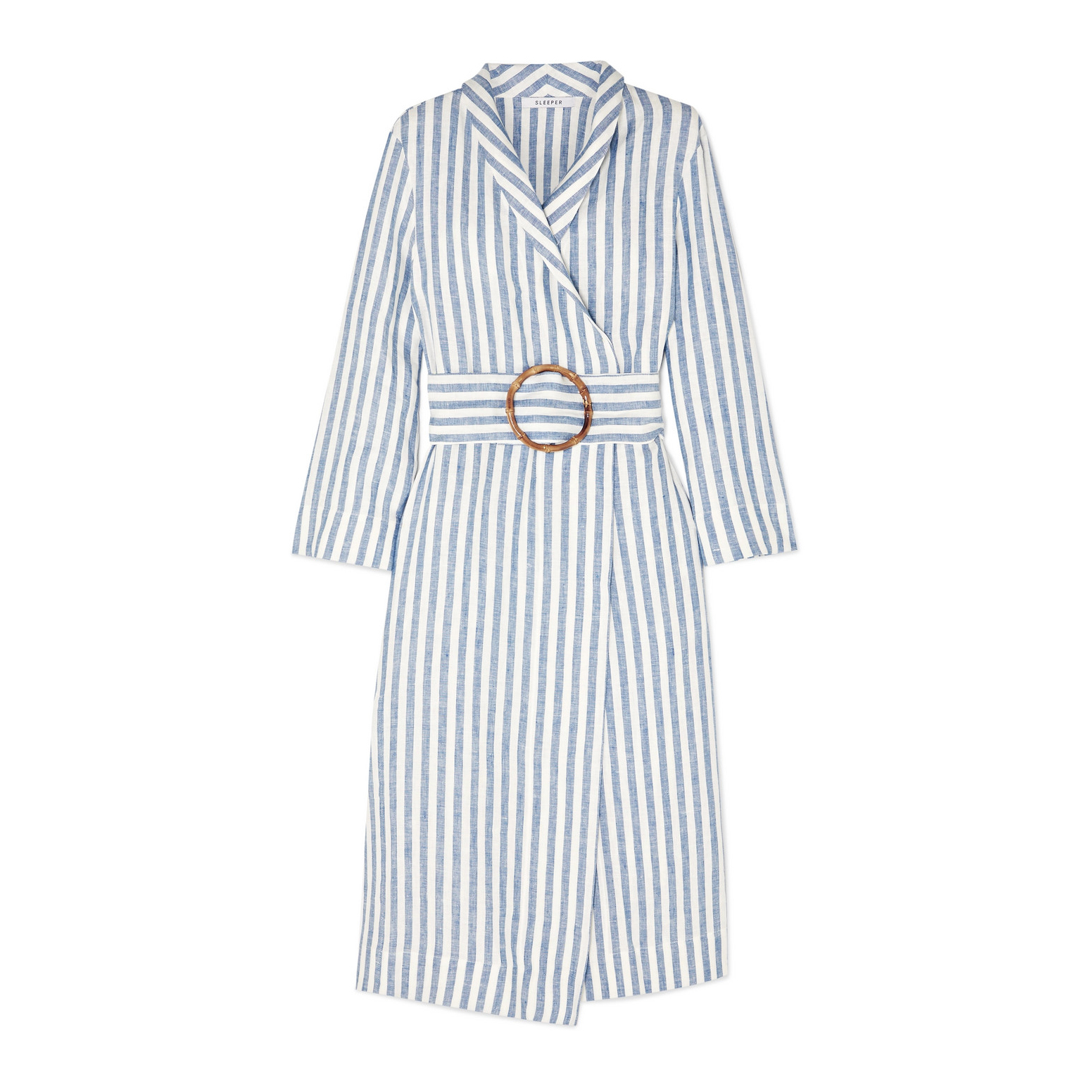 Sleeper Belted Striped Linen Robe