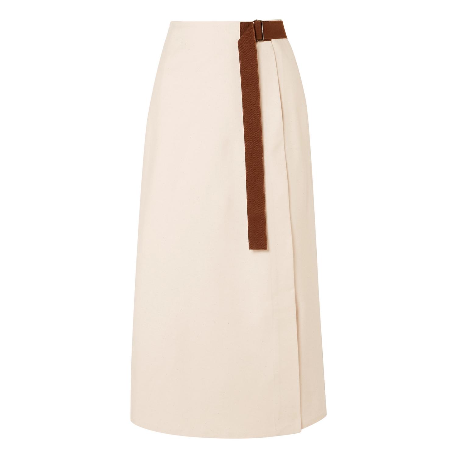 Albus Lumen Nada Belted Wrap Midi Skirt