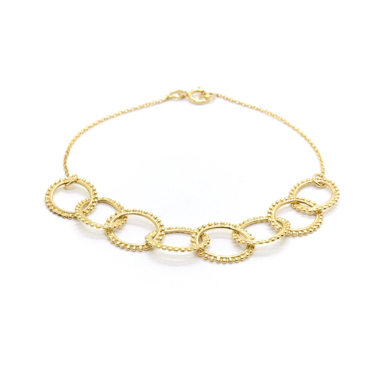 Natalie Marie Jewellery Dotted Oval Chain Bracelet