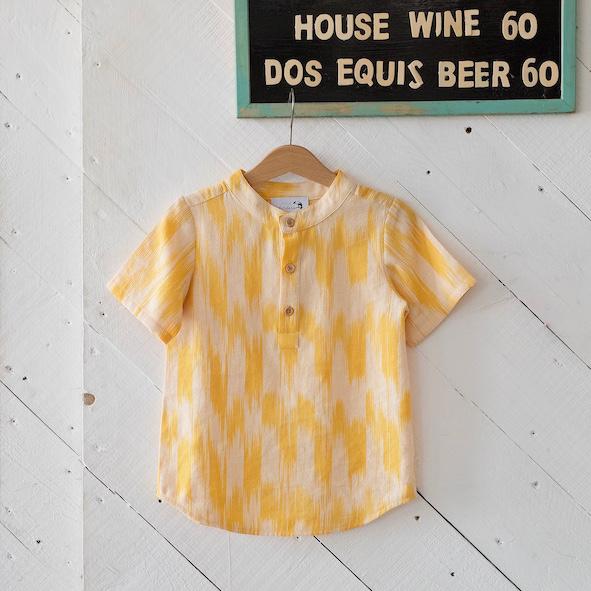 Little Islanders Resort Shirt Sunshine Ikat