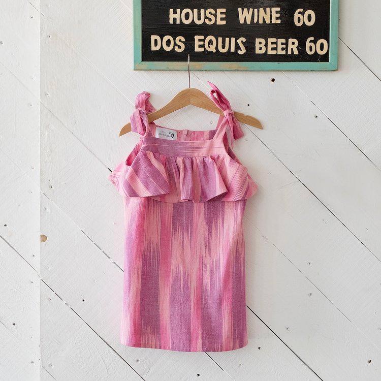 Little Islanders Riviera Dress Fuchsia Ikat