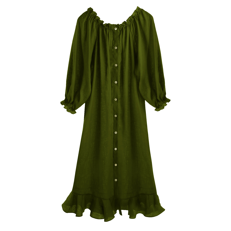 Sleeper Cypress Green Loungewear Dress