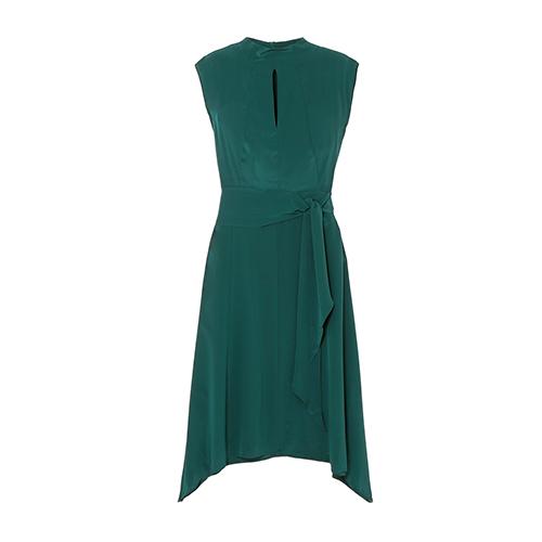 Cefinn Mia Belted Silk-Satin Midi Dress