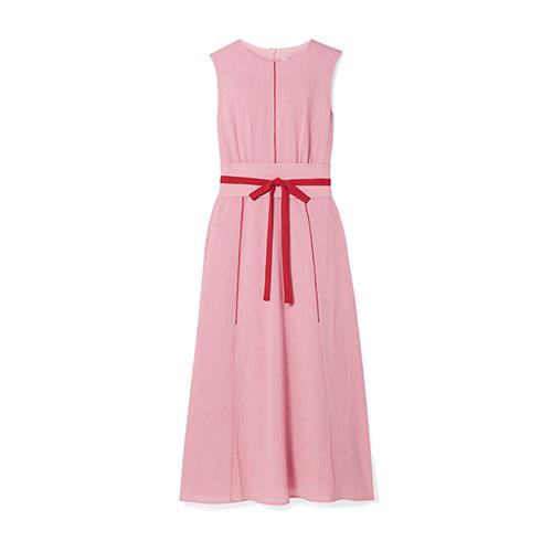 Cefinn Belted Voile Midi Dress