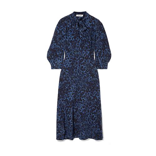 Cefinn Floral-print Silk Crepe De Chine Midi Dress