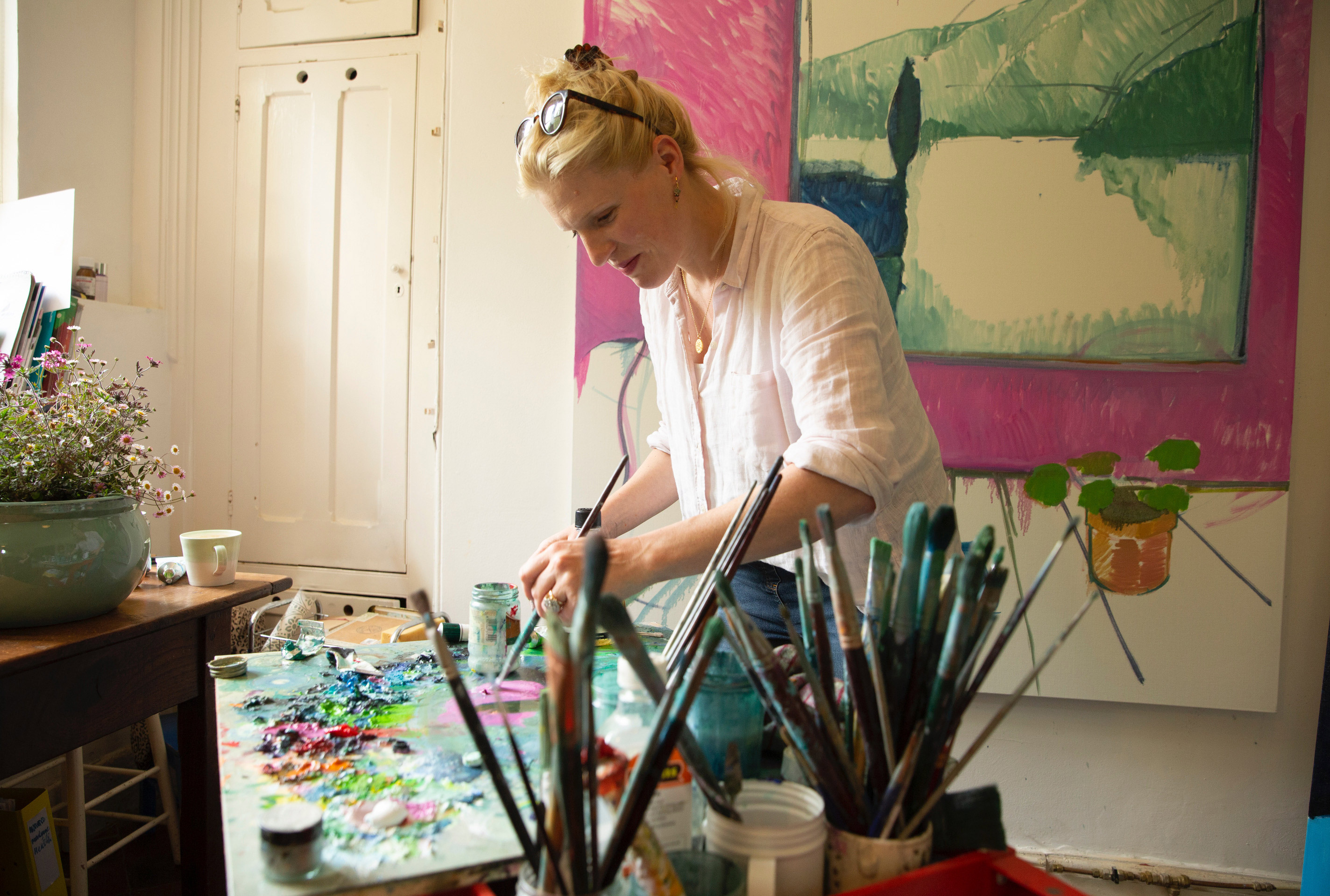 British Artist Nancy Cadogan On Life Behind The Canvas As a Mother of Three