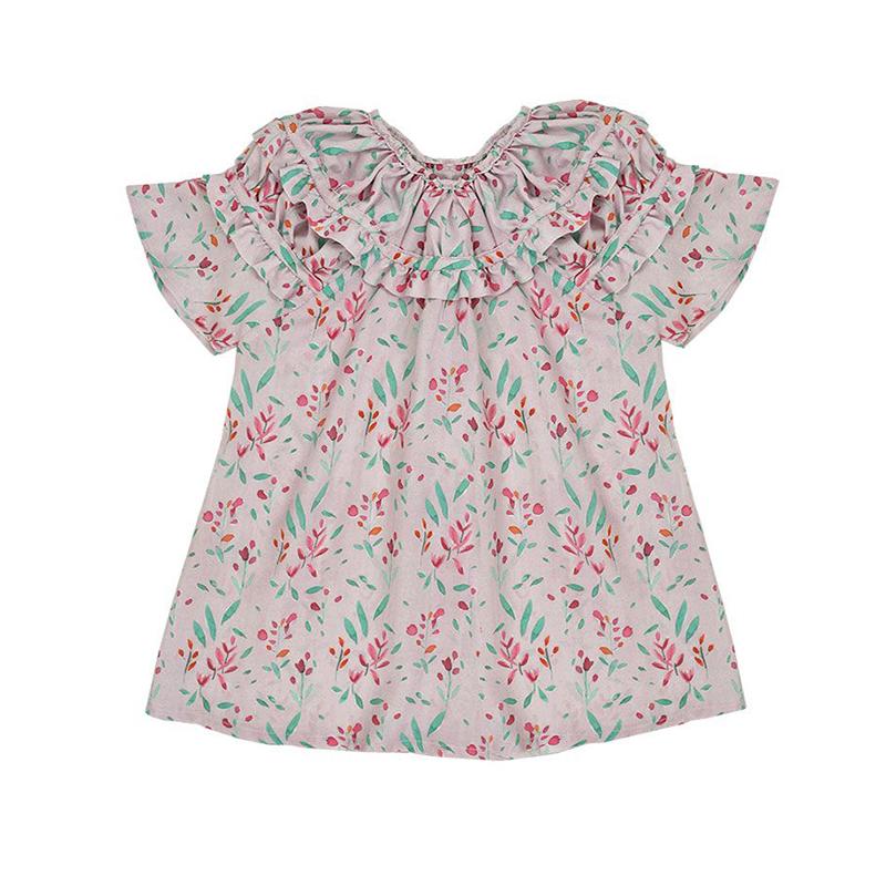 Bonnet à Pompon Pink Print Blouse