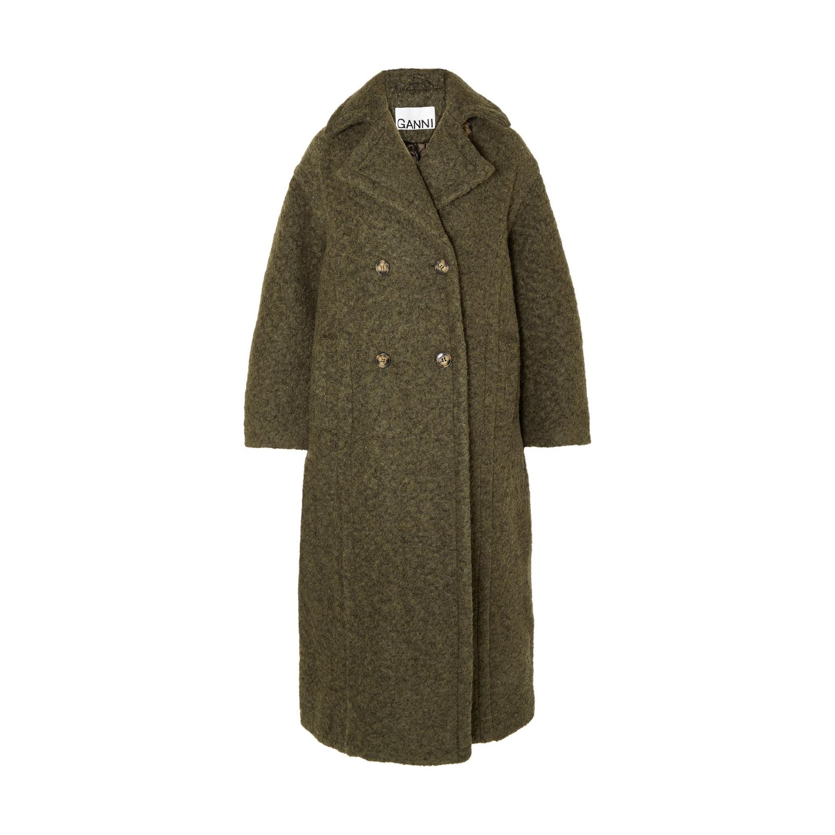 Ganni Oversized Bouclé Coat