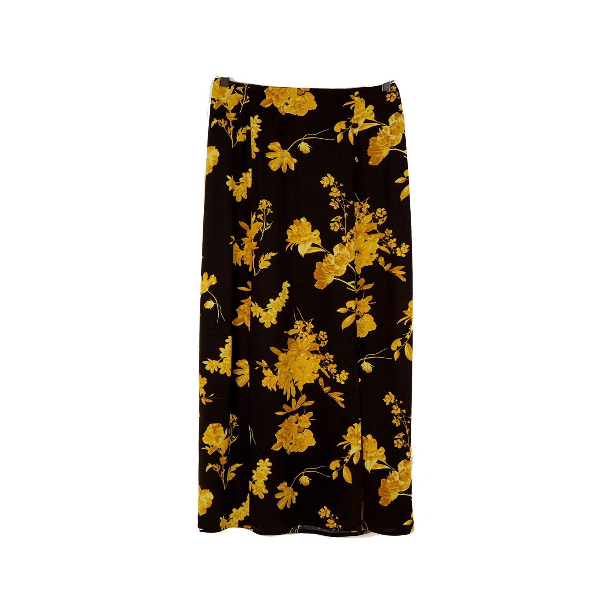 Warehouse Wallflower Midi Skirt