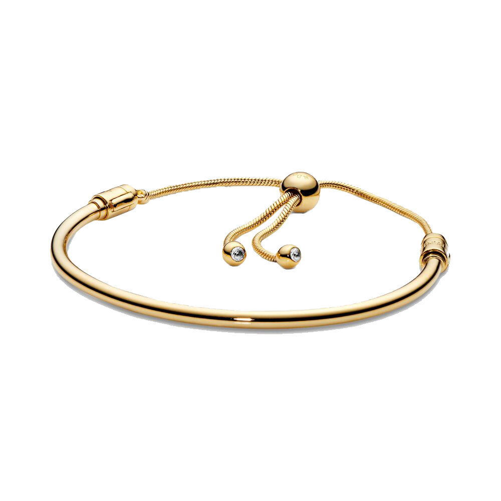 Pandora Flower Stem Slider Bracelet