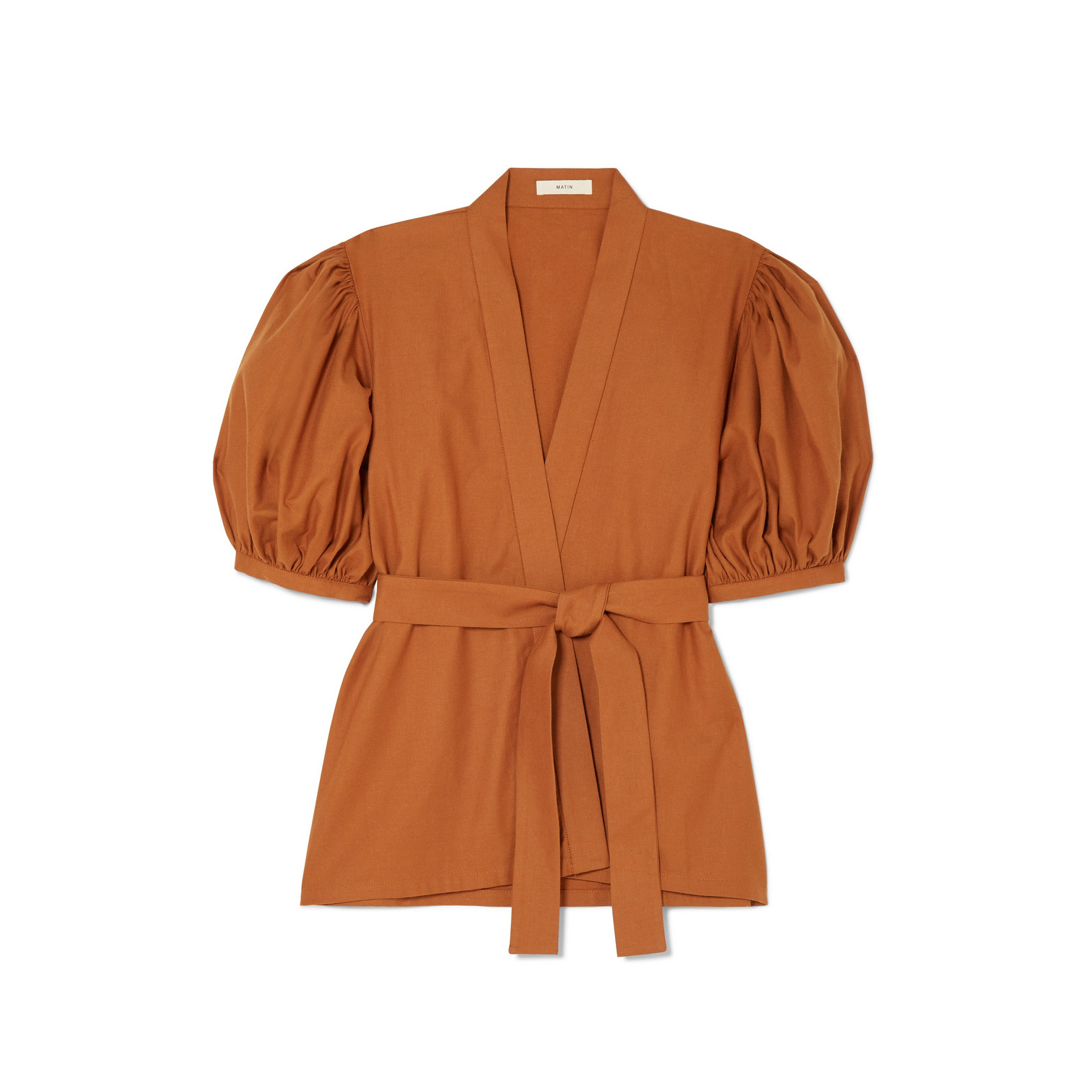 Matin Belted Cotton Wrap Top