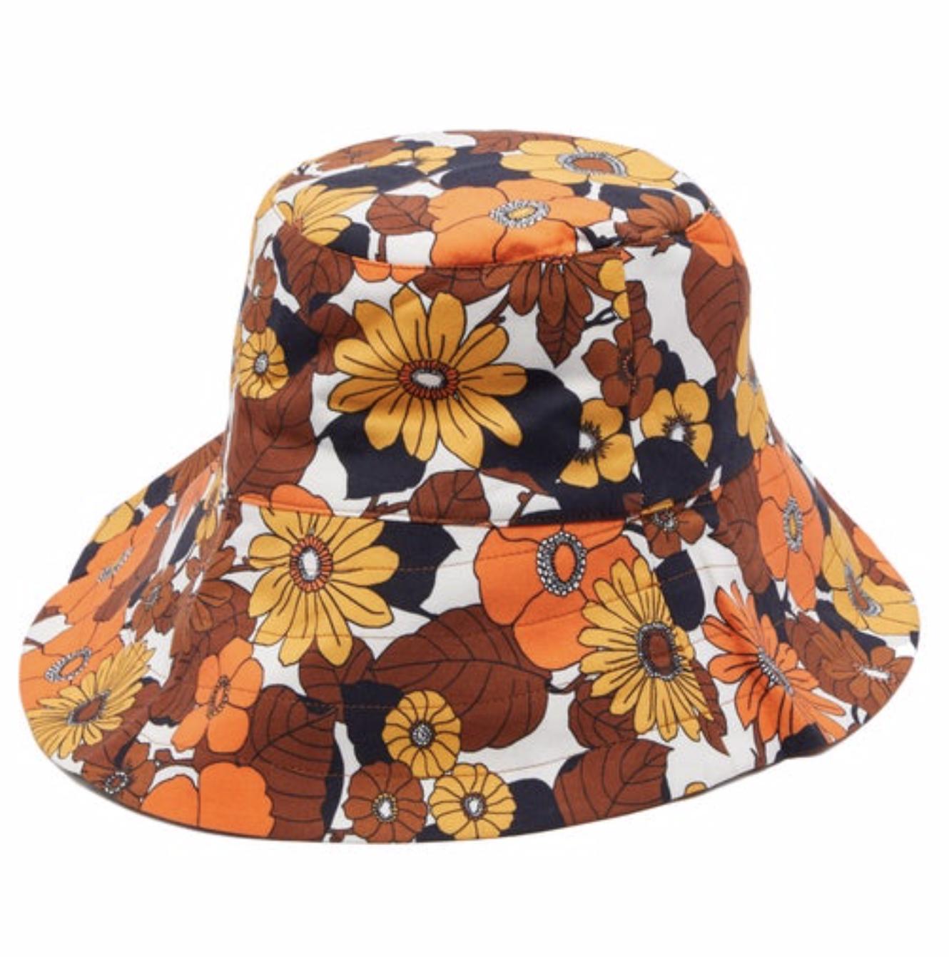 DODO BAR OR  Daria floral-print cotton-poplin bucket hat $97