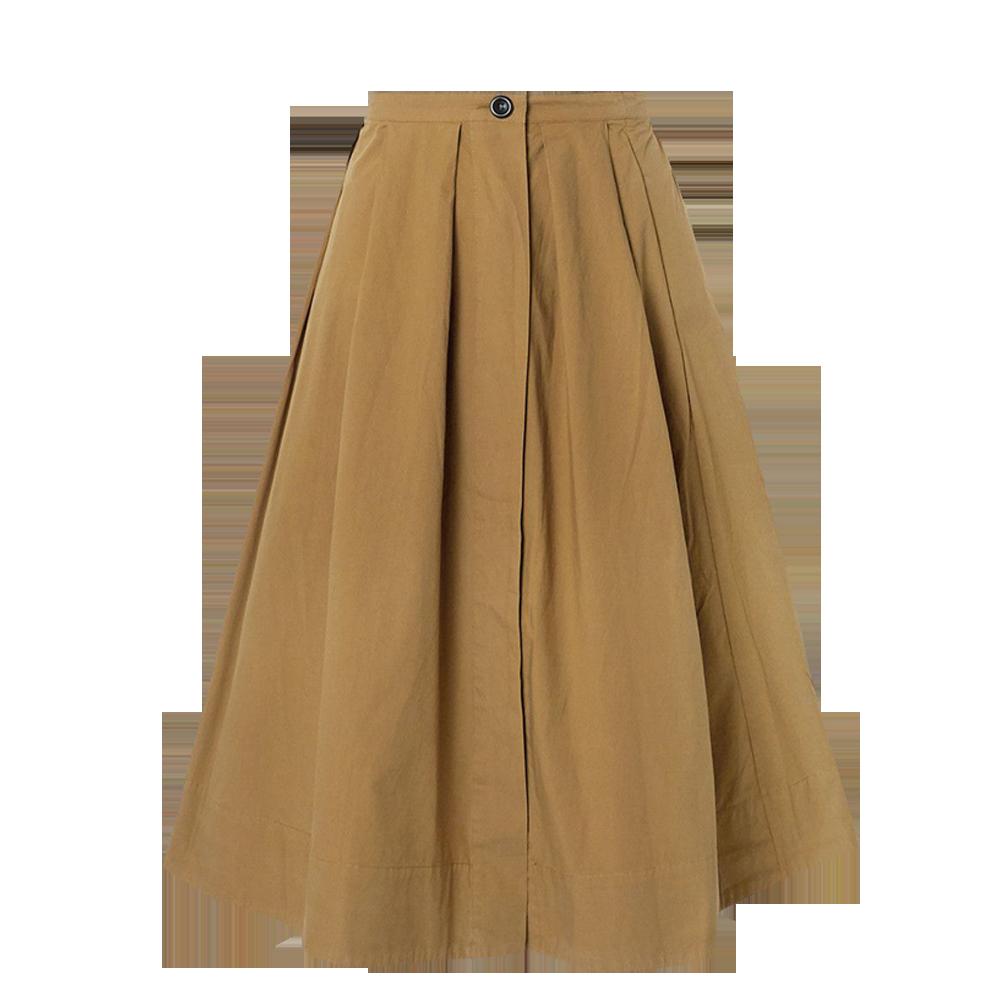 ALEX MILL Pleated cotton-poplin midi skirt $210.73