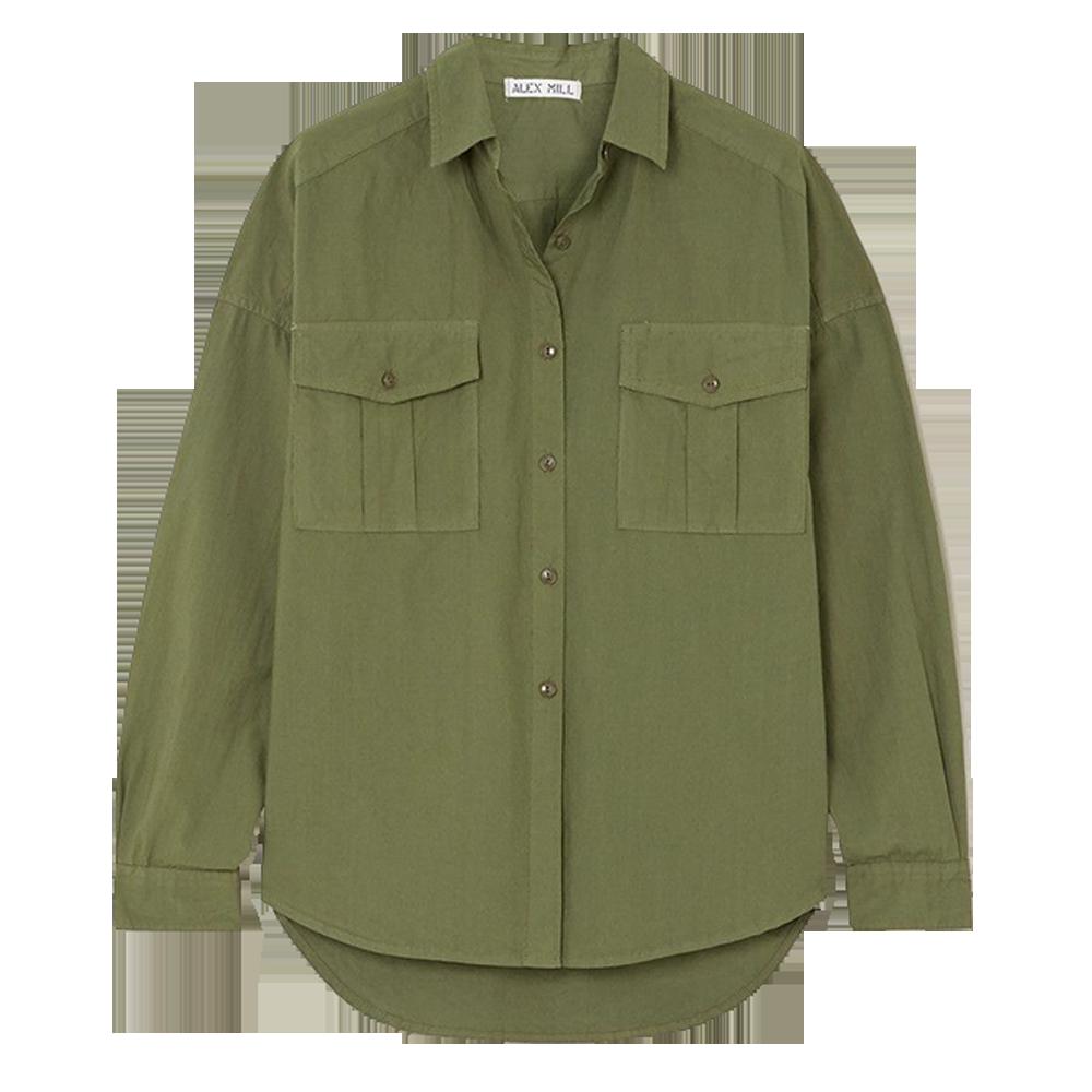 ALEX MILL Keeper cotton-poplin shirt $161.56