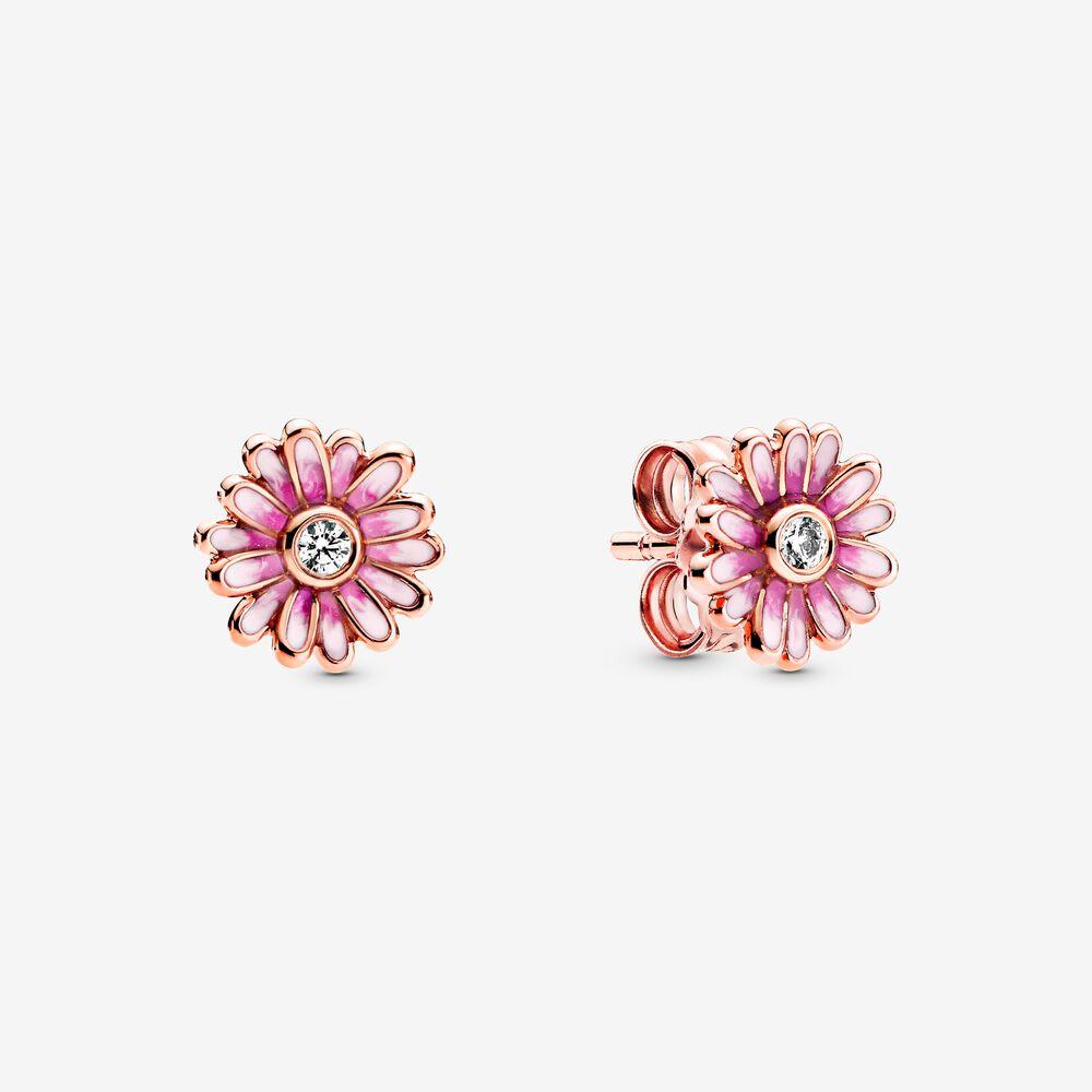 Pandora Pink Daisy Flower Stud Earrings $79