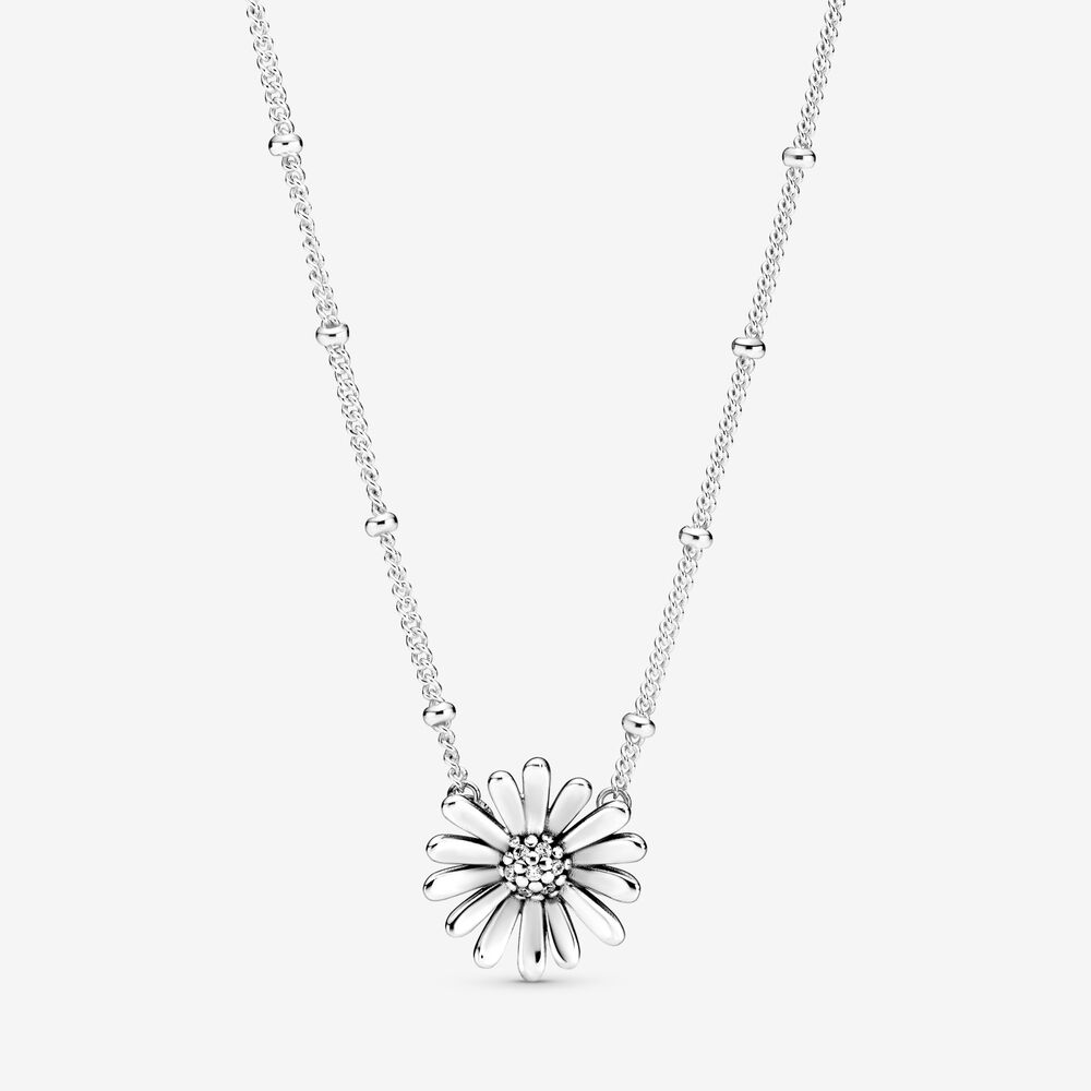 Pandora Pavé Daisy Flower Collier Necklace $99