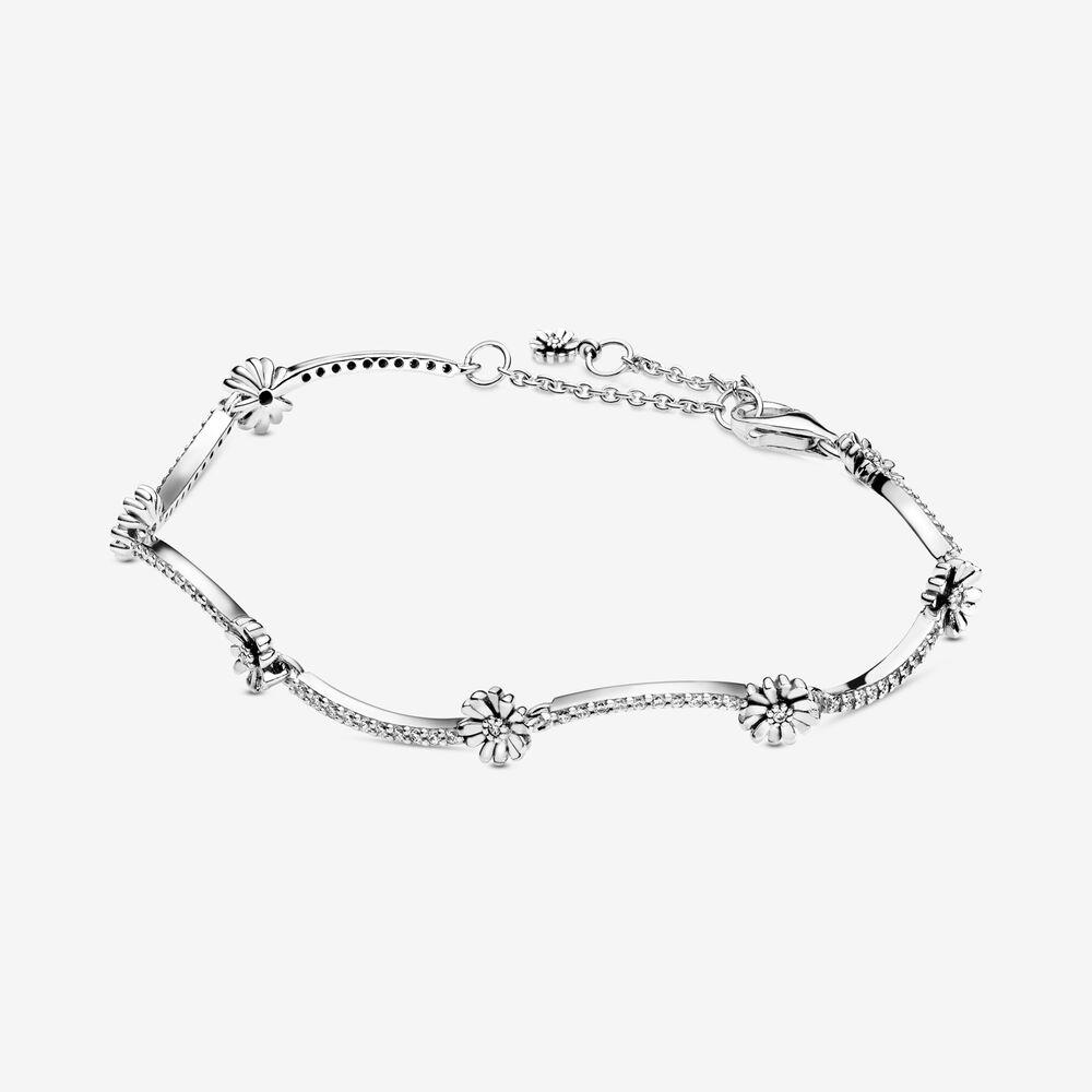 Pandora Sparkling Daisy Flower Bracelet $119