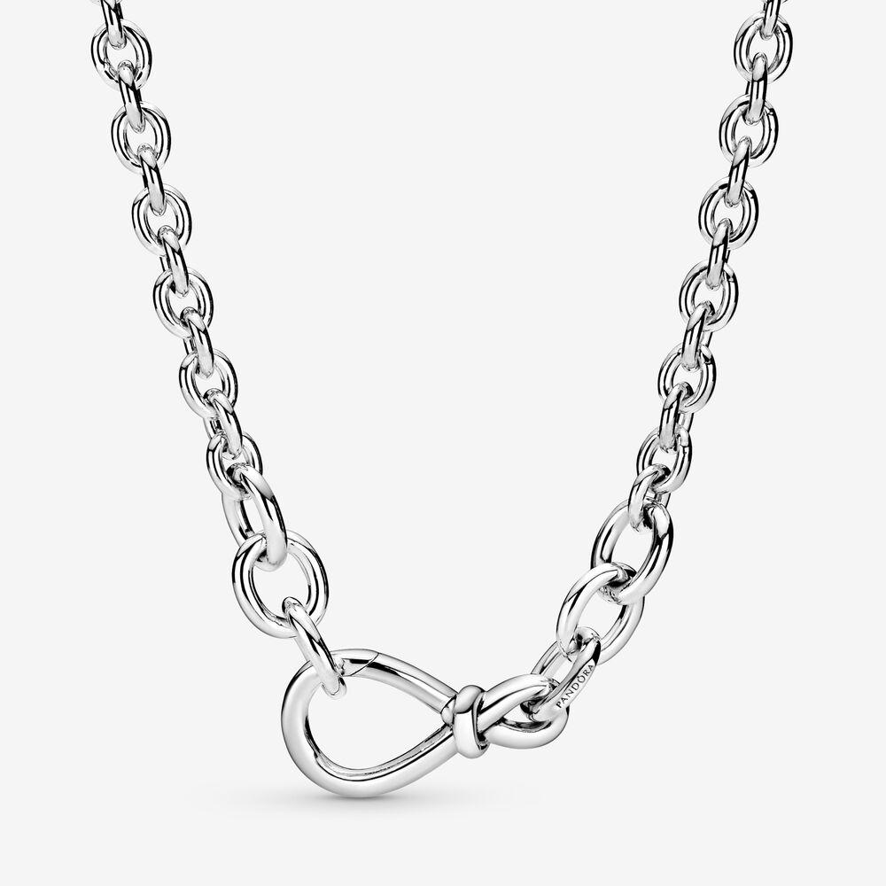 Pandora Chunky Infinity Knot Chain Necklace $179