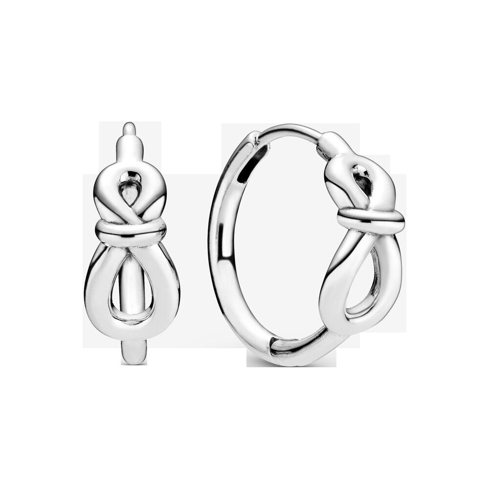 Pandora Infinity Knot Hoop Earrings $89