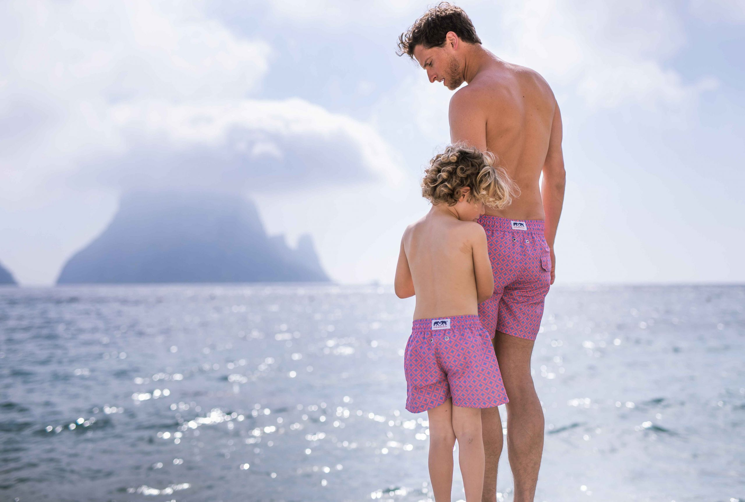 Things Are About to Get Really Cute. Check out these Father & Son Matching Swimming Trunks