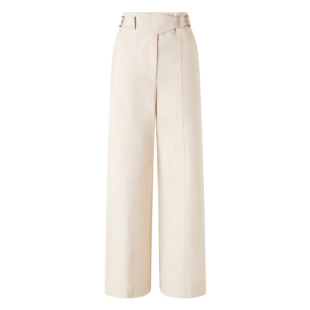 Oroton Cotton Drill Wide Leg Utility Pant
