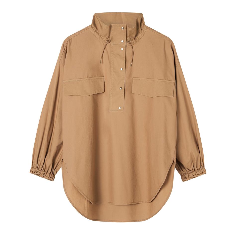 Oroton Cotton Long Sleeve Pocket Cagoule