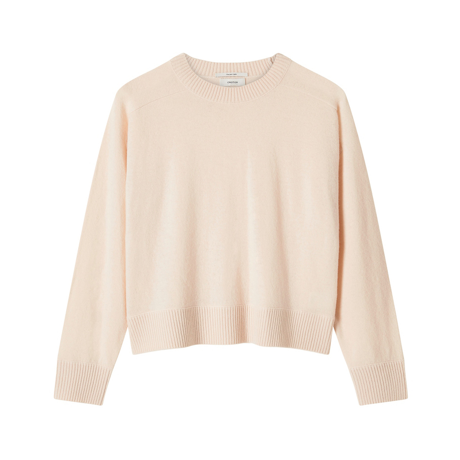 Oroton Wool Crew-Neck Knitted Sweater