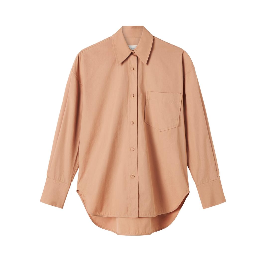 Oroton Poplin Long Sleeve Pocketed Shirt