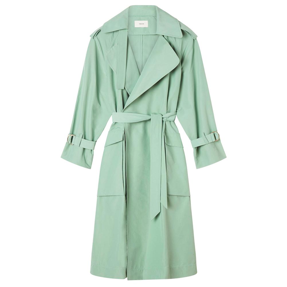 Oroton Cotton Nylon Belted Trench Coat