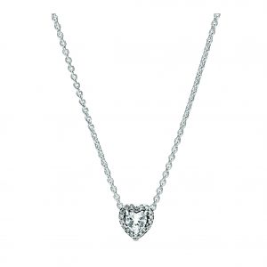 Kate Fowler Pandora Elevated Heart Necklace