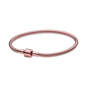 Kate Fowler Pandora Moments Barrel Clasp Snake Chain Bracelet