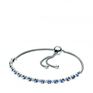 Kate Fowler – Blue and Clear Sparkle Slider Bracelet