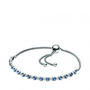 Kate Fowler – Blue and Clear Sparkle Slider Bracelet